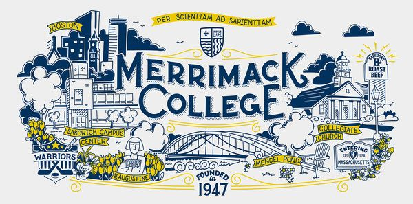 Choosing A College Close To My Home Merrimack College College Illustration Higher Education Design