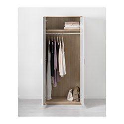 IKEA - ASKVOLL, Armario, negro-marrón/blanco,