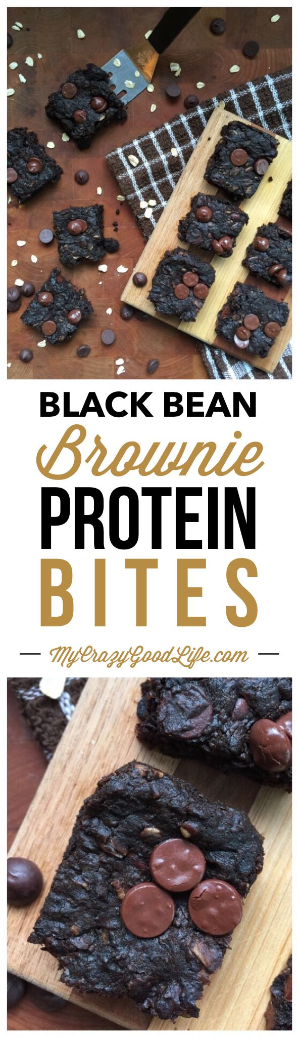 These black bean brownie protein bites are the perfect after workout snack! The protein in the beans helps repair your muscles, and the small brownie bite is the something sweet that you crave. There is no added sugar or flour in this recipe.