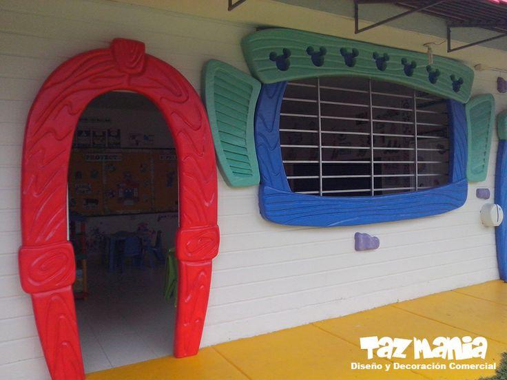 12 best decoraci n fachada interna colegio tordecillas for Decoracion interna