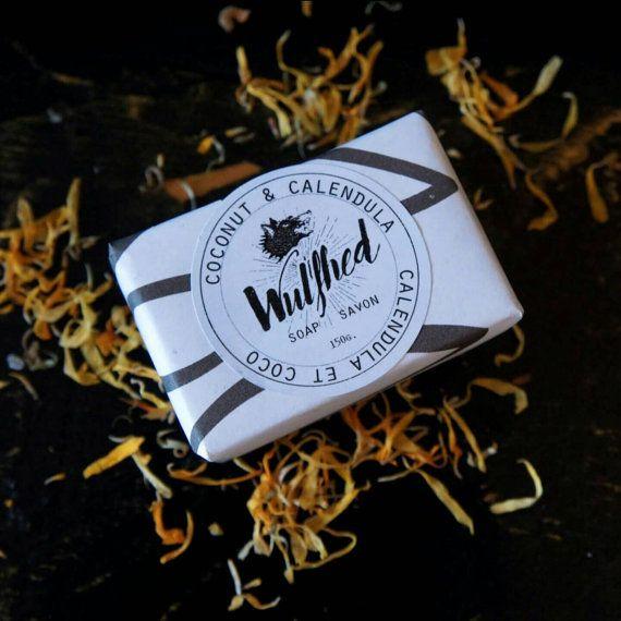 Coconut & Calendula Mini Soap by WulfhedCo on Etsy