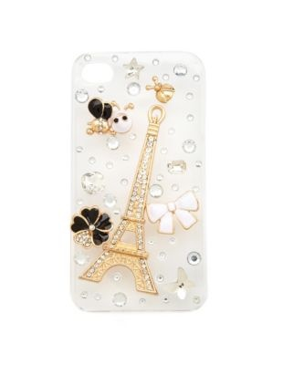 clear eiffel tower cell phone cover