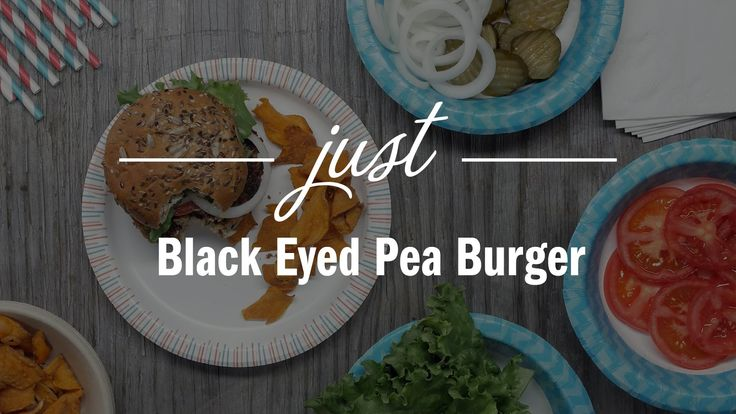 Black Eyed Pea Burger - Just Recipe