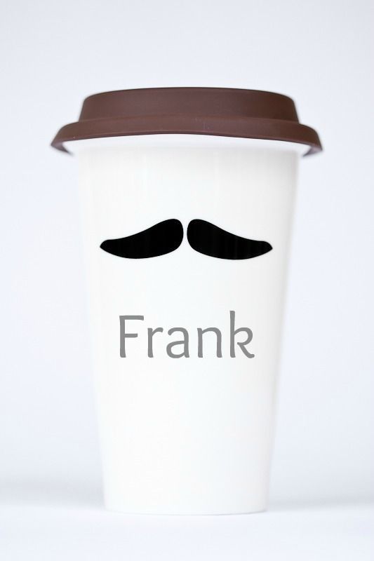 Meet Frank. #momug #coffeecup #reusable #coffee