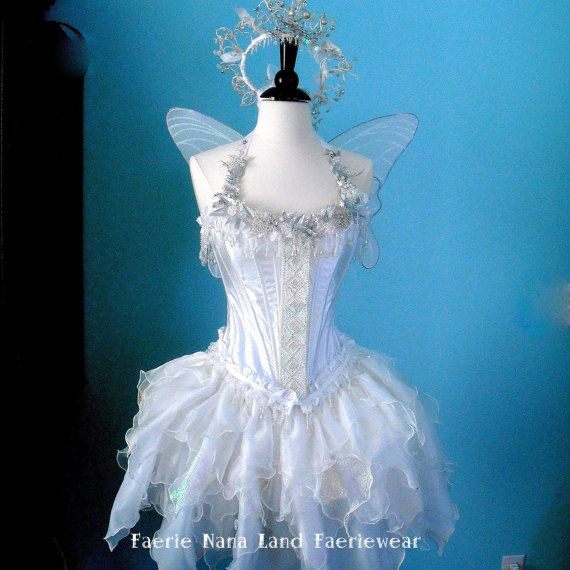 Cute Winter Faerie costume for me!!! :-)