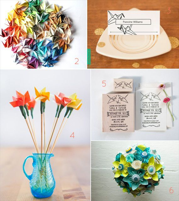 265 best origami wedding ideas images on pinterest for Romantic origami ideas