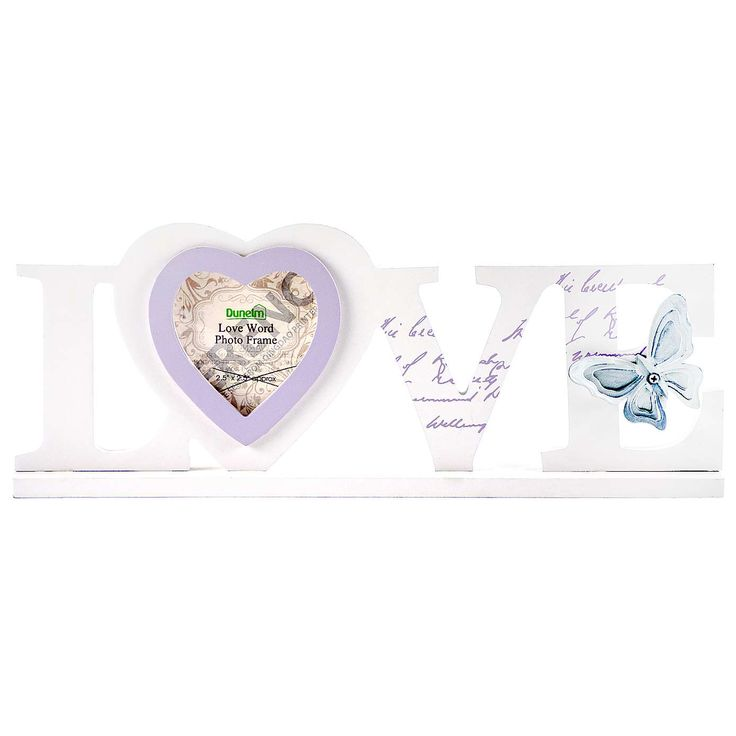 Flora and Fauna Love Word Photo Frame | Dunelm