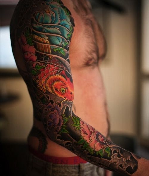 asian themed tattoo sleeves google search tattoos pinterest sleeve tattoo designs. Black Bedroom Furniture Sets. Home Design Ideas