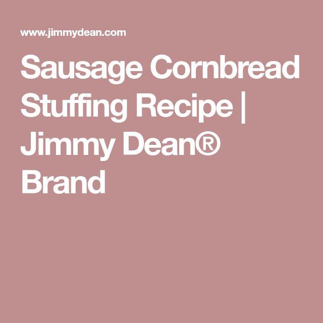 Sausage Cornbread Stuffing Recipe | Jimmy Dean® Brand