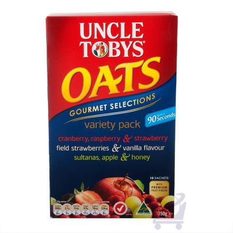 Uncle Tobys Gourmet Variety Pack – Uncle Tobys 350g 10 pk | Shop Australia
