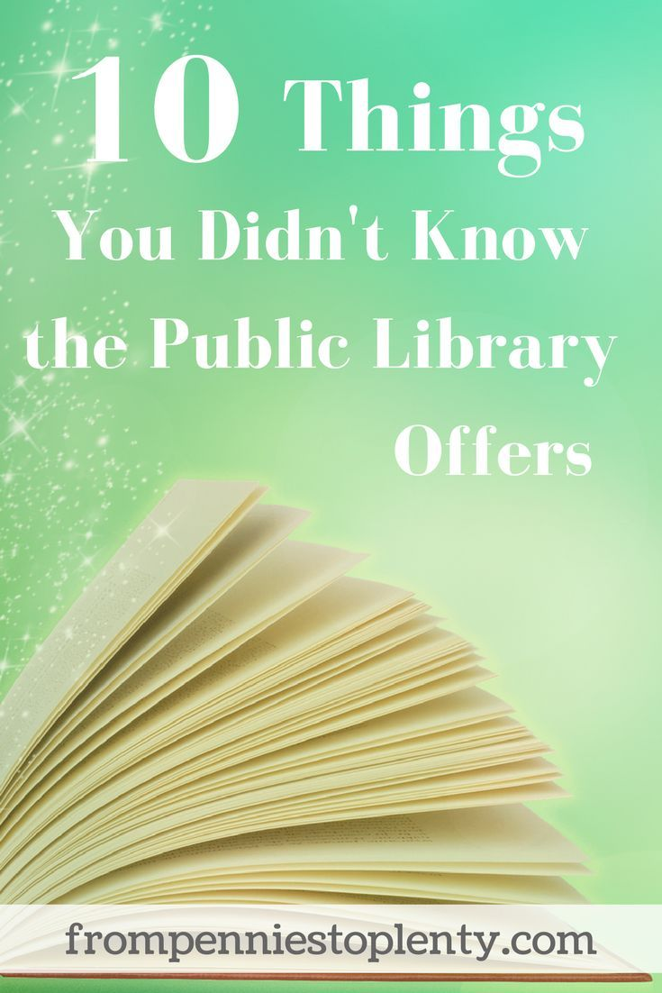 Did You Know That The Library Offers More Than Just Books? Take A Look At