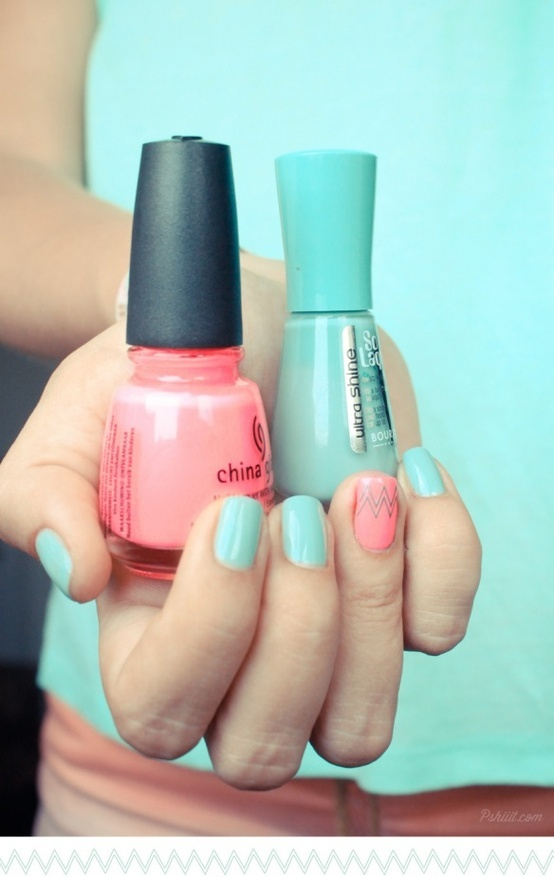 mint + coral colours for spring and summer so cute. Favourite colours of the season I think..