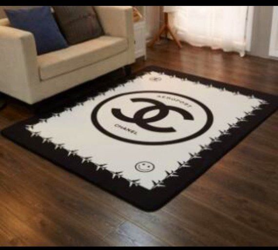 Chanel Area Rug Etsy Rugs Large