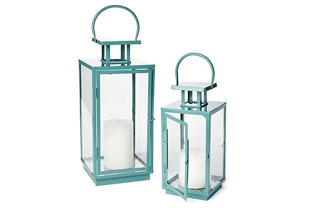 Blue Essentials Lanterns, Asst. of 2 on OneKingsLane.com