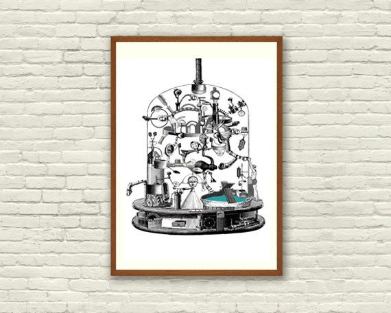 Fine Art Print / Art Poster / Collage / Chemist / by BoWoStudio