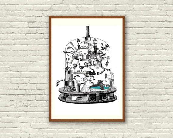 Fine Art Print / Art Poster / Collage / Chemist / by BoWoStudio
