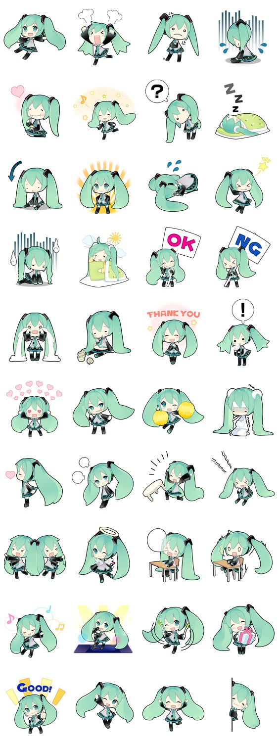 画像 - Hatsune Miku by Crypton Future Media, INC. - Line.me