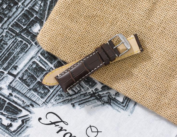 Dark Brown leather strap