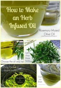 Learn how to make an herb infused oil or cooking, lotions or medicinal uses | PreparednessMama