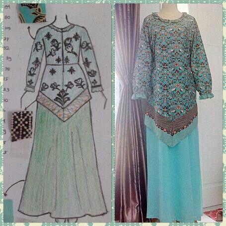 Batik dress, customer order.