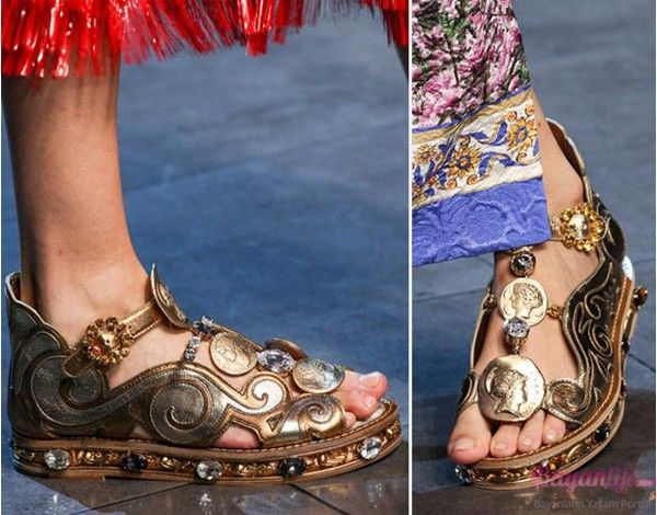 Printed Leather Sandals Spring/summerDolce & Gabbana nfnoC