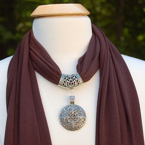 Jewelry Scarves  Beautiful Chocolate Brown Scarf by AzanteDesigns, $22.00