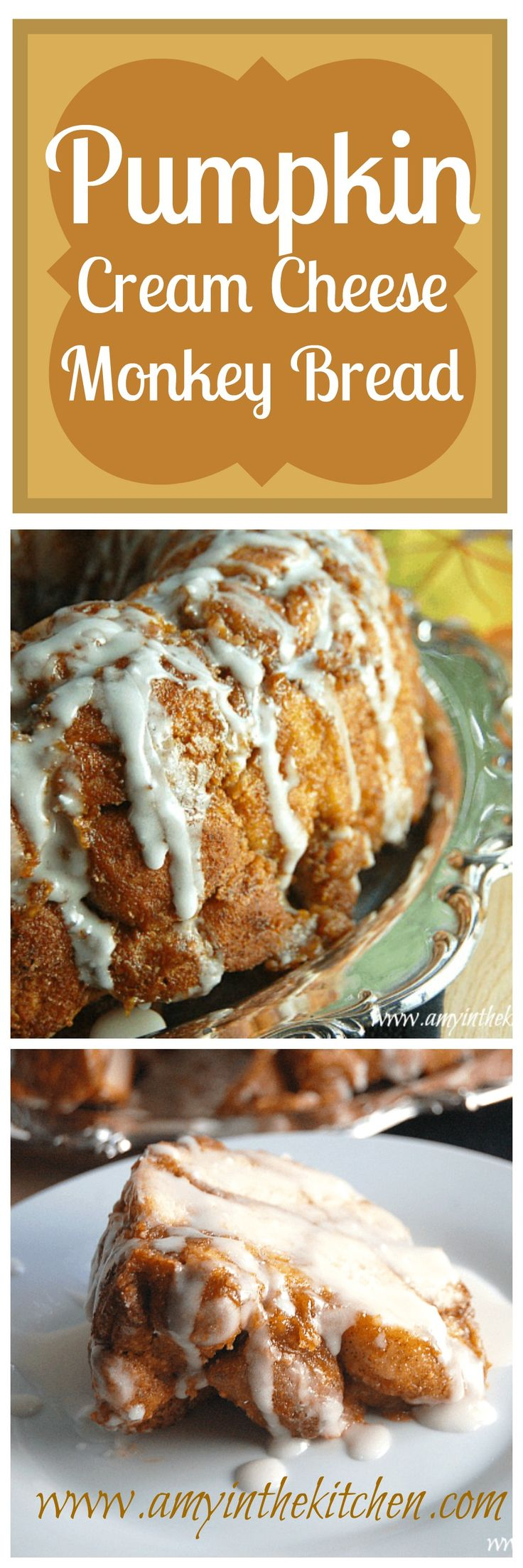 A delicious recipe for Pumpkin Cream Cheese Monkey Bread. Yummy!