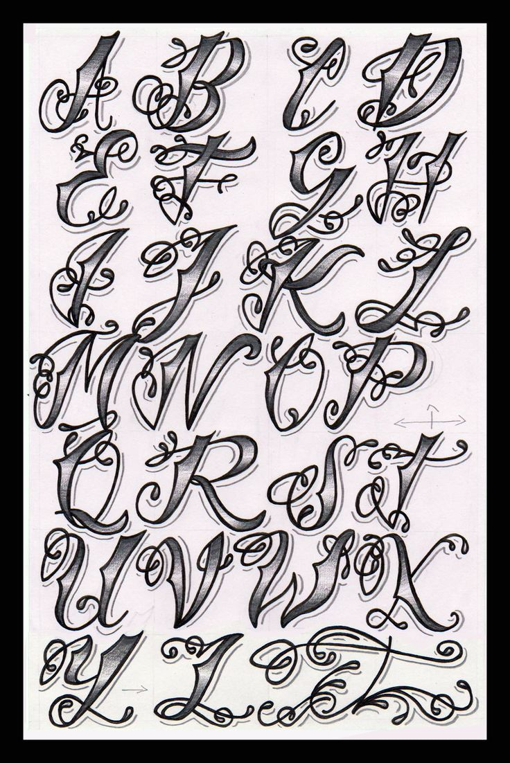 Cholo Tattoo Alphabet | Flickr - Photo Sharing!