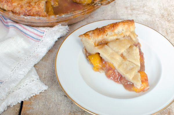 Peach Pie Recipe with All Butter Pie Crust
