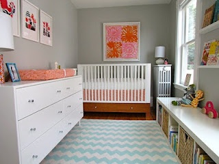 small nursery layout not the colors