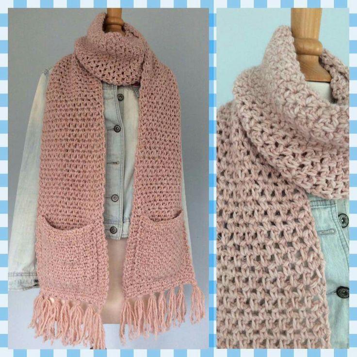 Leuke sjaal met zakken