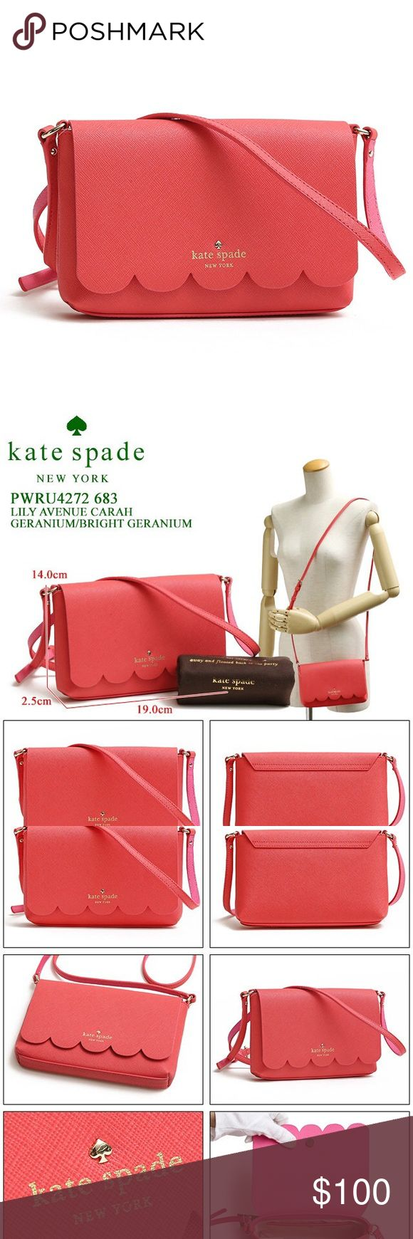 Kate Spade Lily Avenue Carah Crossbody Pink geranium color. Brand new with tags. kate spade Bags Crossbody Bags