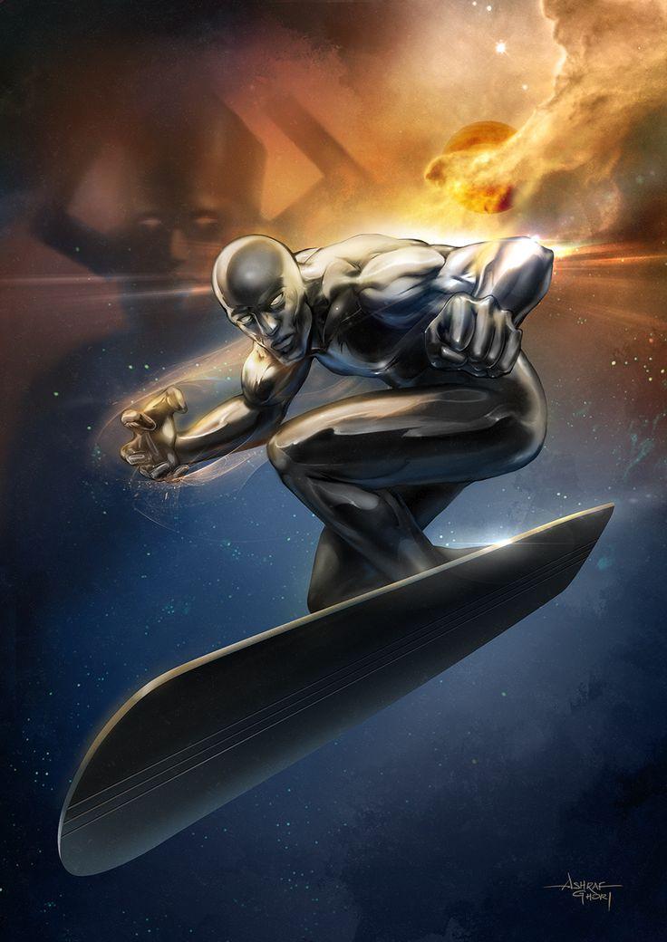 Silver Surfer - Ashraf Ghori. Photoshop, Cintiq 21UX.