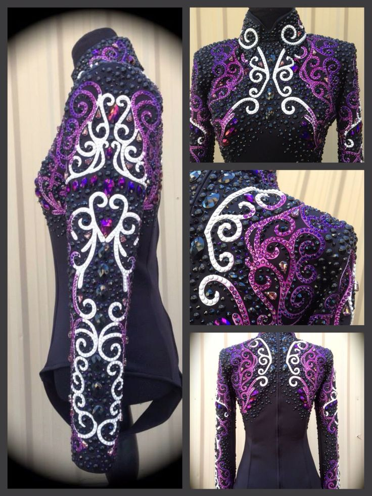 Lindsey James ombre purple and white black Showmanship Jacket
