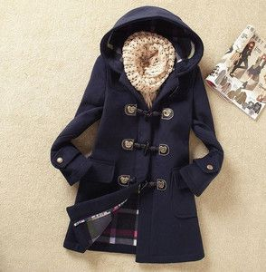 Fashion Womens Winter Coats Trench Coat Wool Jackets Toggle Duffel Parka Anorak | eBay (camel or navy)