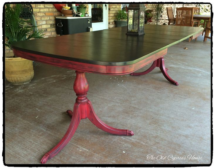 Antique In 14 More Yrs Dining Table Painted With Otp True Black