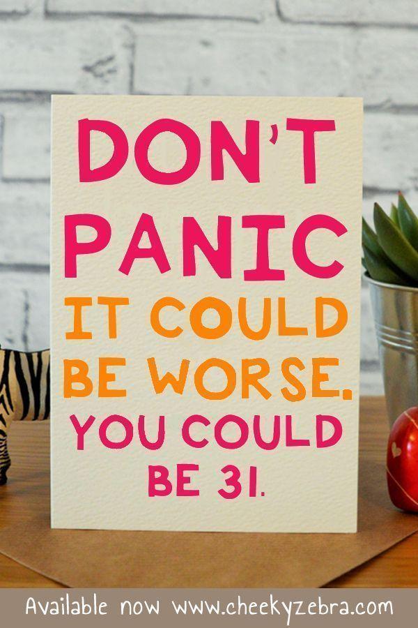 Don T Panic 30th Birthday Cards Birthday Cards For Girlfriend Birthday Greetings For Girlfriend