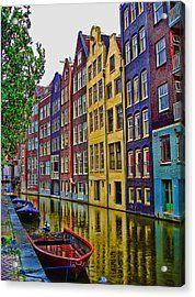 Amsterdam Acrylic Print by Mario Villeda
