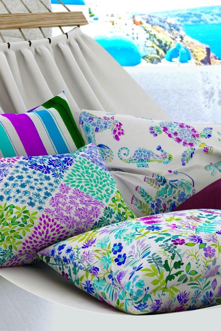 Des Coussins Colores Pour Un Exterieur Habille Tissu D Ameublement Tissu Occultant Coussins Exterieur