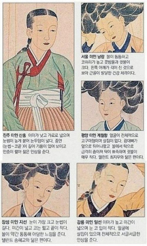 '조선시대 미인 조건'이 화제다.     최근 한 온라인 커뮤니티 게시판에는 '조선시대 미인 조건'이라는 제목의 게시물이 올라왔다.