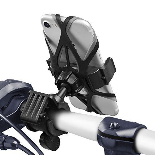 Support Telephone Velo, Spigen Velo Spider [360° Safe View] [Deux sangles en Caoutchouc] Support Vélo Ville / Montagne Bicyclette Rotative…