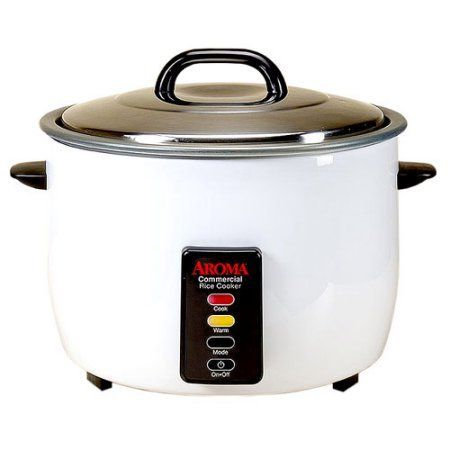 Aroma Commercial 48-cup (Cooked) Rice Cooker, White