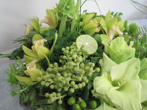 Chartreuse Table Flowers - inspiration for our next creative colour