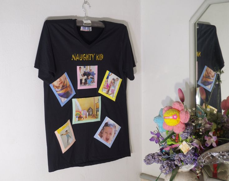 Photo Frame on T-Shirt(Black Color)-New Trend Wall Decorate-Idea for Home Decor by HeavenKnow on Etsy