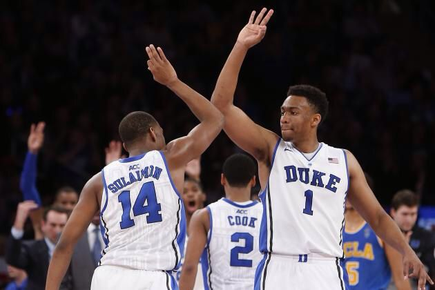 Duke Syracuse game tonight was INTENSE!!! If Syracuse's coach wouldn't have gotten himself thrown out, they might have won. Glad they didn't! Go Duke! We'll have a new #1 on Monday!