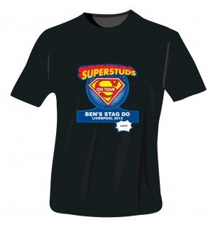 Superstuds Stag Do T-Shirt - Black - Extra Extra Large | Clothing | Exclusively Personal