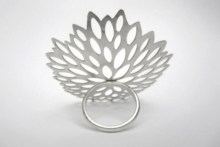 sterling silver flower ring by Kim Mitchell