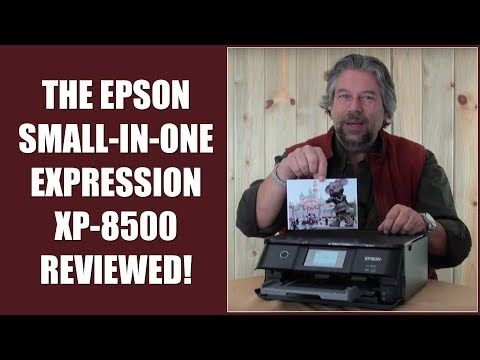 """My review of the sweet """"small in one"""" Epson Expression XP-8500 photo printer / scanner / copier, including a guest appearance by my cat!"""