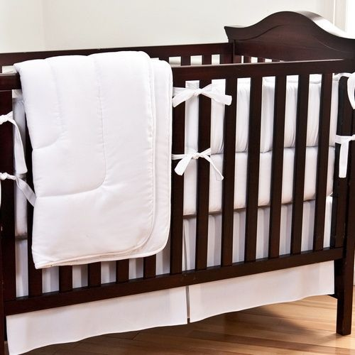 Cream Eyelet Crib Bedding