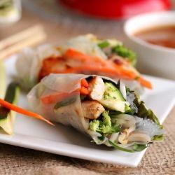 veggie chicken spring rolls